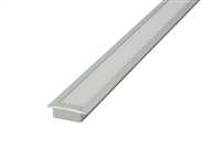 "Slim recessed mounted Aluminum Channel 4ft, 0.7"" Wide with flange (1""), ideally used for under cabinet lighting, showcase lighting, closets, toe-kick lighting, and stair tread lighting. Stocked and shipped from Miami, FL."