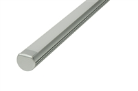 "Surface mounted Aluminum Channel G 4ft, 0.73"" Wide 0.48""H, ideally used for under cabinet lighting, showcase lighting, closets, toe-kick lighting, and stair tread lighting. Stocked and shipped from Miami, FL. Use with 10mm LED Strips"