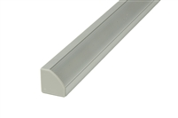 "Surface mounted Aluminum Channel H2 8ft, 0.73"" Wide 0.73""H, ideally used for under cabinet lighting, showcase lighting, closets, toe-kick lighting, and stair tread lighting. Stocked and shipped from Miami, FL. Use with 10mm LED Strips"