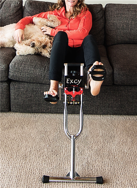 The Excy Stability Bar makes the Excy portable cycle more stable and opens up new exercise opportunities for special needs children, people with injuries, those with chronic pain or recovering from rehab, and seniors who needed additional stability