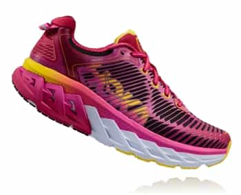 Womens Hoka ARAHI Road Running Shoes - Virtual Pink / Neon Fuchsia
