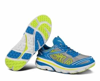 Mens Hoka BONDI 3 Road Running Shoes - Brilliant Blue / Hi Rise / Citrus
