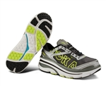 Mens Hoka BONDI 3 Road Running Shoes - White / Silver / Citrus
