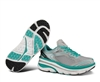 Womens Hoka BONDI 3 Road Running Shoes - Baltic / Hi Rise / White