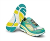 Womens Hoka BONDI 3 Road Running Shoes - Aqua / Yellow / Grey