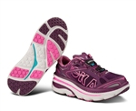 Womens Hoka BONDI 3 Road Running Shoes - Plum / White / Fushia