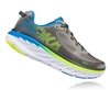 Mens Hoka BONDI 5 Road Running Shoes - Blue / Red Orange / Gold Fusion