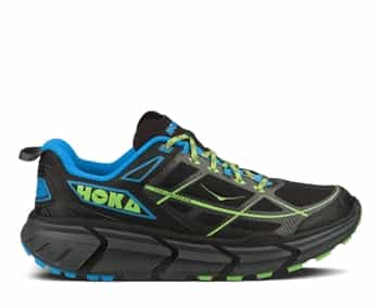 Mens Hoka CHALLENGER ATR Trail Running Shoes - Black / Cyan