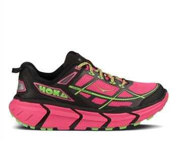 Womens Hoka CHALLENGER ATR Trail Running Shoes - Beetroot Purple / Jasmine Green