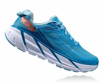 Womens Hoka CLIFTON 3 Road Running Shoes - Dresden Blue / Sky Blue