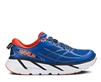 Mens Hoka CLIFTON 2 Road Running Shoes - True Blue / Orange Flash