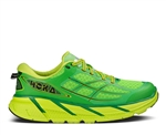 Mens Hoka CLIFTON 2 Road Running Shoes - Pure Green / Acid