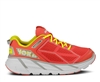 Womens Hoka CLIFTON Road Running Shoes - Coral / White / Yellow