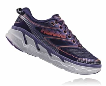 Womens Hoka CONQUEST 3 Road Running Shoes - Astral Aura / Corsican Blue