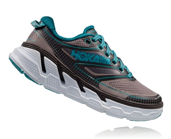 Womens Hoka CONQUEST 3 Road Running Shoes - Pavement / Gull