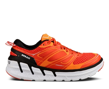 Mens Hoka CONQUEST 2 Road Running Shoes - Orange Flash / Persimmon