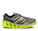 Mens Hoka CONQUEST 2 Road Running Shoes - Grey / Citrus / White