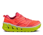 Womens Hoka CONQUEST 2 Road Running Shoes - Neon Coral / Citrus