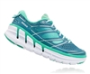 Womens Hoka CONQUEST 2 Road Running Shoes - Colonial Blue / Mint Leaf