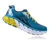 Mens Hoka GAVIOTA Road Running Shoes - Red Orange / Gold Fusion