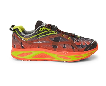 Mens Hoka HUAKA Road Running Shoes - Black / Red / Lime