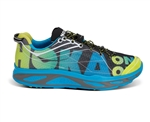 Mens Hoka HUAKA Road Running Shoes - Cyan / Black Citrus