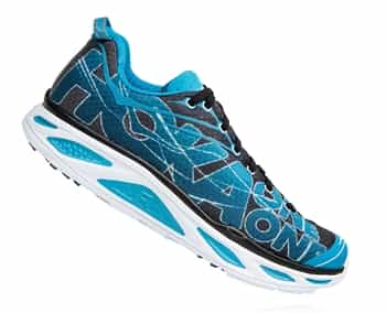Mens Hoka HUAKA 2 Road Running Shoes - Black / Blue Jewel