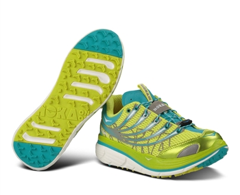 Womens Hoka KAILUA TRAIL Running Shoes - Yellow / Aqua / White