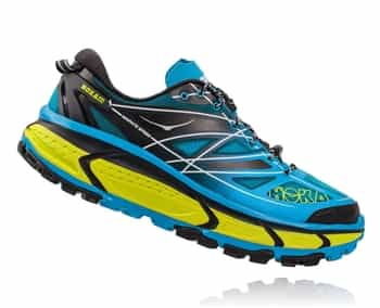 Mens Hoka MAFATE SPEED Trail Running Shoes - Cyan / Black