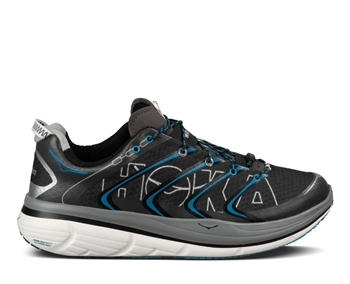 Mens Hoka RAPA NUI TARMAC Road Running Shoes - Black / Cyan / White