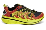 Mens Hoka RAPA NUI TARMAC Road Running Shoes - Red / Black / Yellow