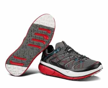 Mens Hoka RAPA NUI 2 TRAIL Running Shoes - Anthracite / Red / White
