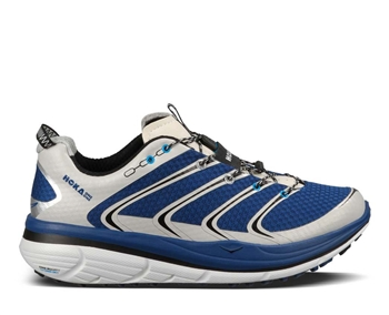 Mens Hoka RAPA NUI 2 TRAIL Running Shoes - Blue / White / Black