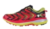 Mens Hoka SPEEDGOAT Trail Running Shoes - Bright Red / Acid