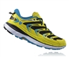 Mens Hoka SPEEDGOAT Trail Running Shoes - Citrus / Blue