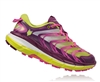 Womens Hoka SPEEDGOAT Trail Running Shoes - Plum / Fuchsia / Acid