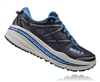 Mens Hoka STINSON 3 ATR Trail Running Shoes - Grey / Citrus