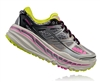 Womens Hoka STINSON 3 ATR Trail Running Shoes - Grey / Fuchsia