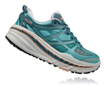 Womens Hoka STINSON 3 ATR Trail Running Shoes - Aqua / Colonial Blue