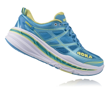 Womens Hoka STINSON 3 LITE Road Running Shoes - Dresden Blue / Blue Atoll