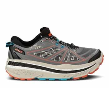 Mens Hoka STINSON ATR Trail Running Shoes - Anthracite / Grey / Red