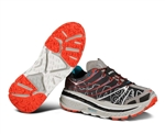 Mens Hoka STINSON TRAIL Running Shoes - Black / Red / Cyan