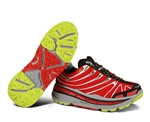 Mens Hoka STINSON TRAIL Running Shoes - Red / Light Grey / Black
