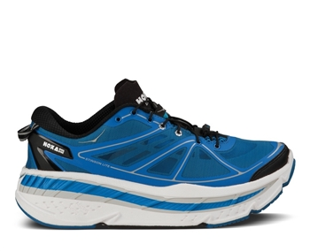Mens Hoka STINSON LITE Road Running Shoes - Blue / White / Black