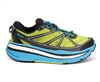 Mens Hoka STINSON LITE Road Running Shoes - Citrus / Black / Cyan