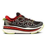 Mens Hoka STINSON LITE Road Running Shoes - Black / True Red