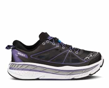Womens Hoka STINSON LITE Road Running Shoes - Black / Corsican Blue