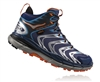 Mens Hoka TOR SPEED 2 WP Mountain Running Shoes - Black / Medieval Blue / Red Orange