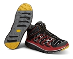 Mens Hoka TOR SPEED WP Trail Running Shoes - Black / Red / Silver