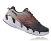 Mens Hoka VANQUISH 2 Road Running Shoes - Grey / Orange Flash